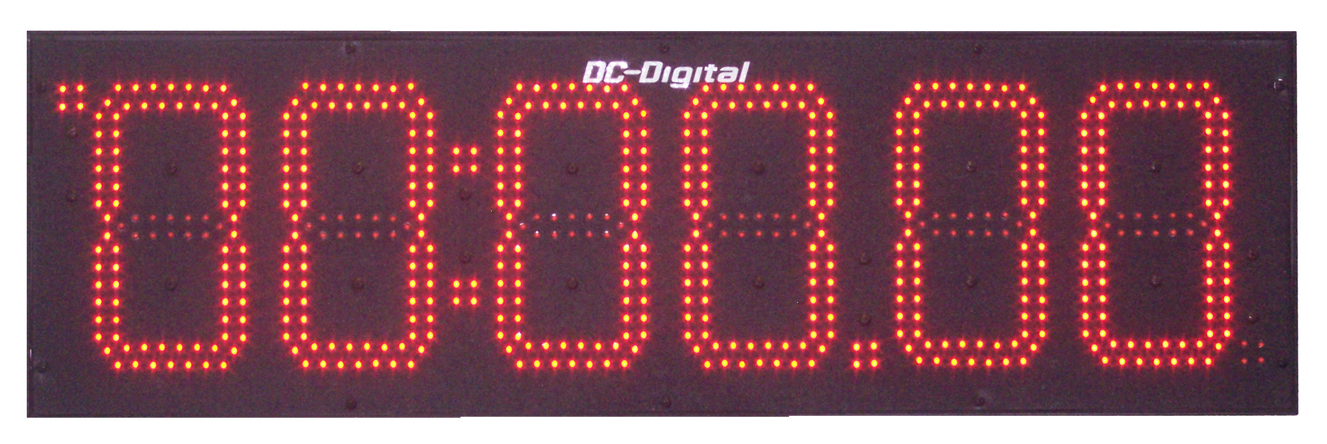 DC-806T-UP-Push-Button Controlled Count Up Outdoor Timer Hours, Minutes and Seconds 8 Inch Digits