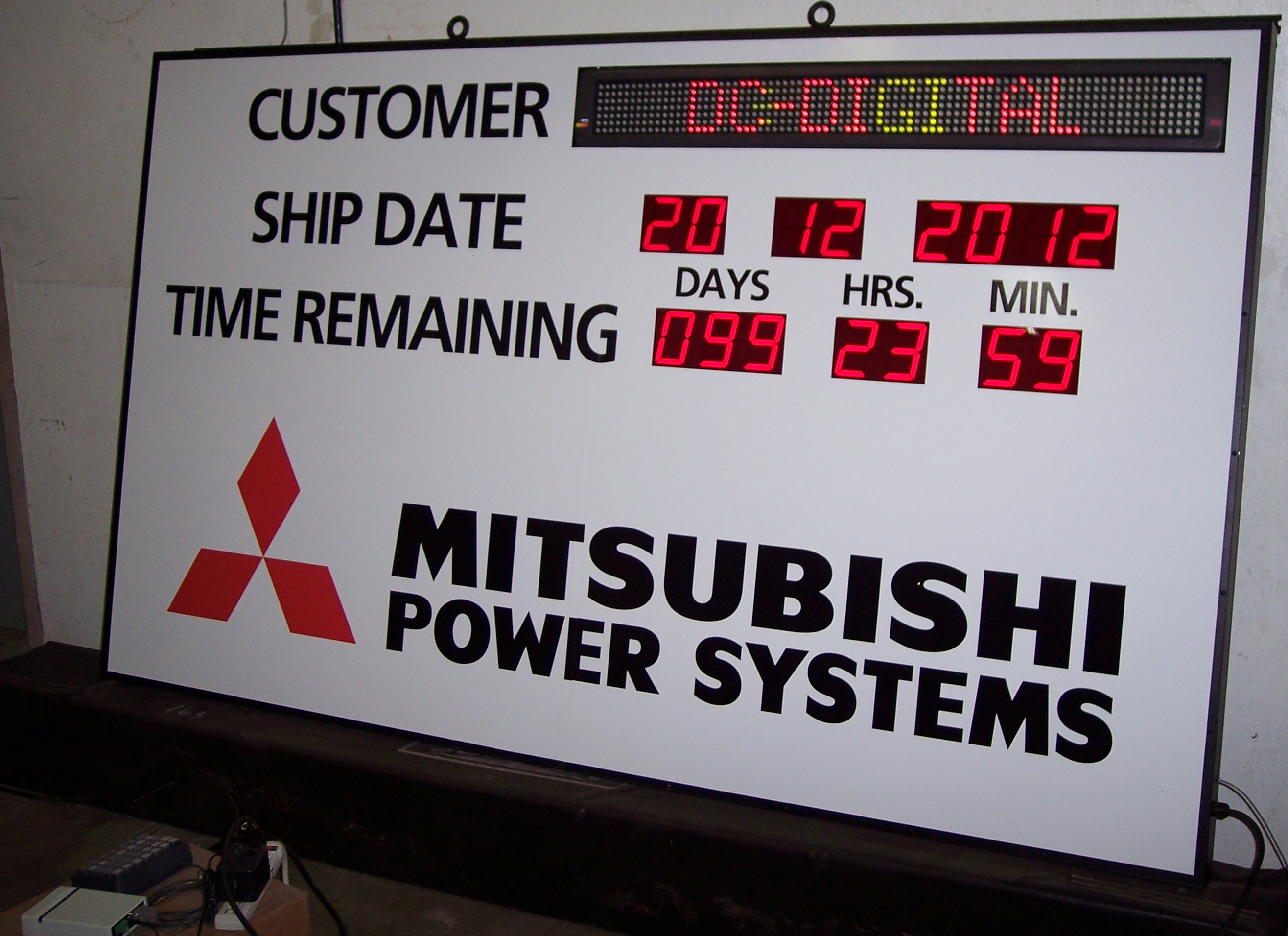 Mitsubishi power Ship Date Timers and message board