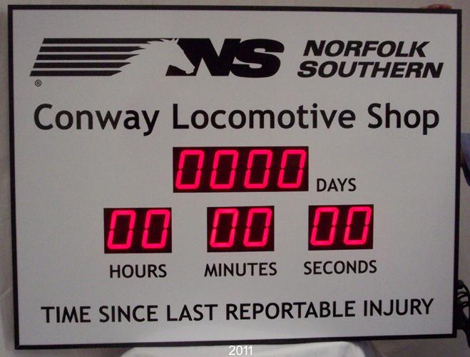 Safety Scoreboard Northfolk Southern