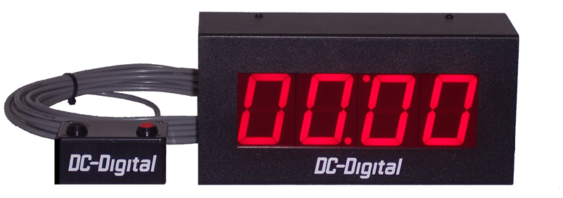 (DC-25T-UP-Plug-n-Play) Push-Button-Wired-Remote-Controlled-Count-up-Timer-2.3-Inch-Digits