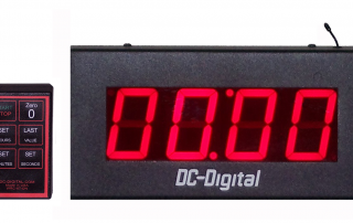 Looping digital countdown timer that counts back up after reaching zero