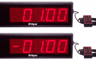 DC-405T-DN-WR Countdown Count up timer that flashes and displays a neg sign