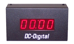 (DC-10T-DN-UP-STATIC-W) 1.0 Inch LED Digital, 900 Mhz Wireless Controlled, Count Up Timer, Countdown Timer, Time of Day Clock and Static Number Display