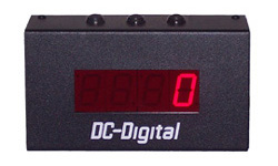 (DC-10C-Term-S) 1.0 Inch LED Digital, Multi-Input, Counter that has Top Mounted Environmentally Sealed Push-Button Switches and also Accepts PLC, Relay, Switch and Sensor Input Controls