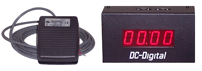 DC-10T-DN-BCD-FOOT-EOP-Footswitch-Contol-BCD-Set-Countdown-Timer-1-Inch-Digits-HP