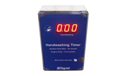 (DC-10T-DN-Hand) Sensor Activated Hand Washing Countdown Timer, Battery Operated, NEMA 4X Enclosure, 1 Inch Digits