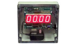 (DC-10T-UP-TERM-NEMA) 1.0 Inch LED Digital, Multi-Input (PLC-Relay-Switch-Sensor) Controlled, Count Up Timer, Shift Digit Technology, NEMA Enclosed