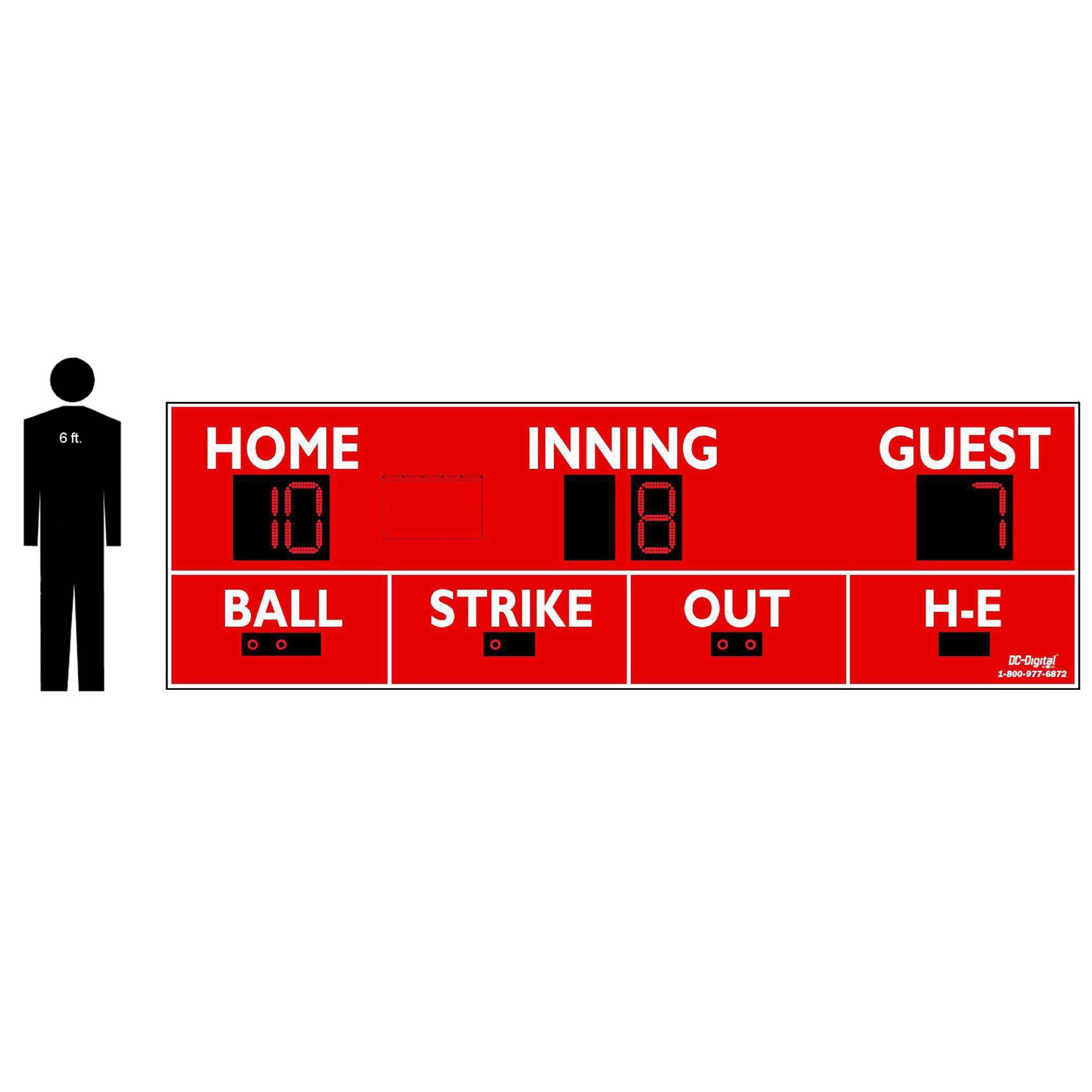 (DC-150-16x5) Baseball-Softball LED Wireless Controlled Scoreboard (OUTDOOR) 2