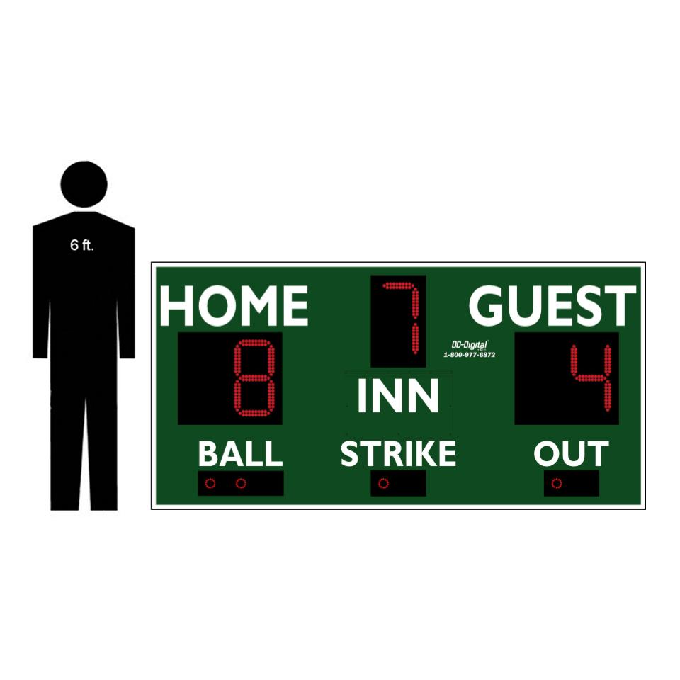 (DC-150-8x4) Baseball-Softball LED Wireless Controlled Scoreboard (OUTDOOR) 2