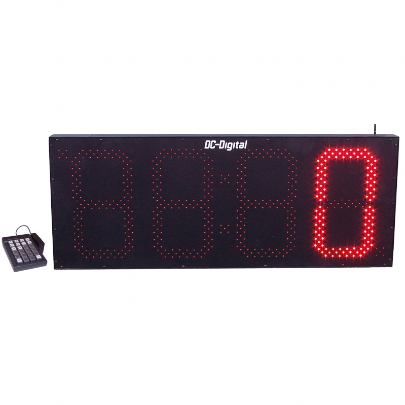 (DC-150-Static-Key-W) 15 Inch LED Digital, Wireless Remote Keypad Controlled, Static Number Display (OUTDOOR)
