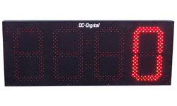 (DC-150C-Term-IN) 15.0 Inch LED Digital Multi-Input Counter that accepts: PLC, Relay, Switch and Sensor Input Controls (INDOOR)