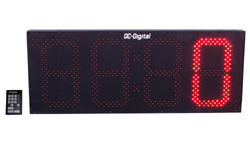 (DC-150C-Term-Key-Pace) 15.0 Inch LED Digital Production Pace Timer-Counter with 24 Keypad Programmer and Controller (OUTDOOR)