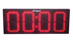 (DC-150N-T-DN-UP-Static) 15 Inch LED Digital, Network Connected, Web Page Controlled, Count Up timer, Countdown Timer, Time of Day Clock and Static Number Display (OUTDOOR)