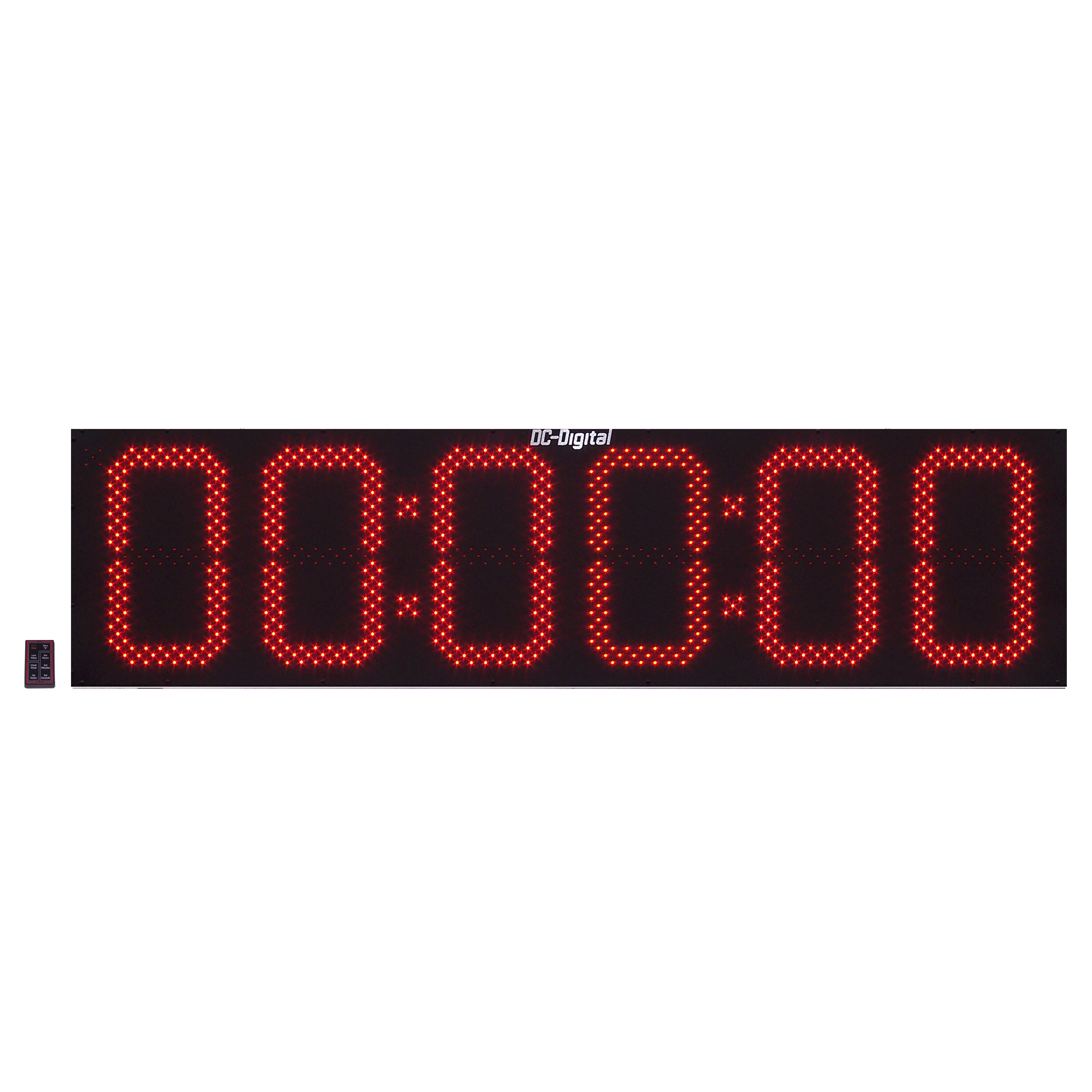 (DC-156UTW-SPORT) Multi-Function, RF-Wireless Remote Controlled, Digital Sports Timer-Clock, 15 Inch Digits, Hours, Minutes, Seconds (OUTDOOR)