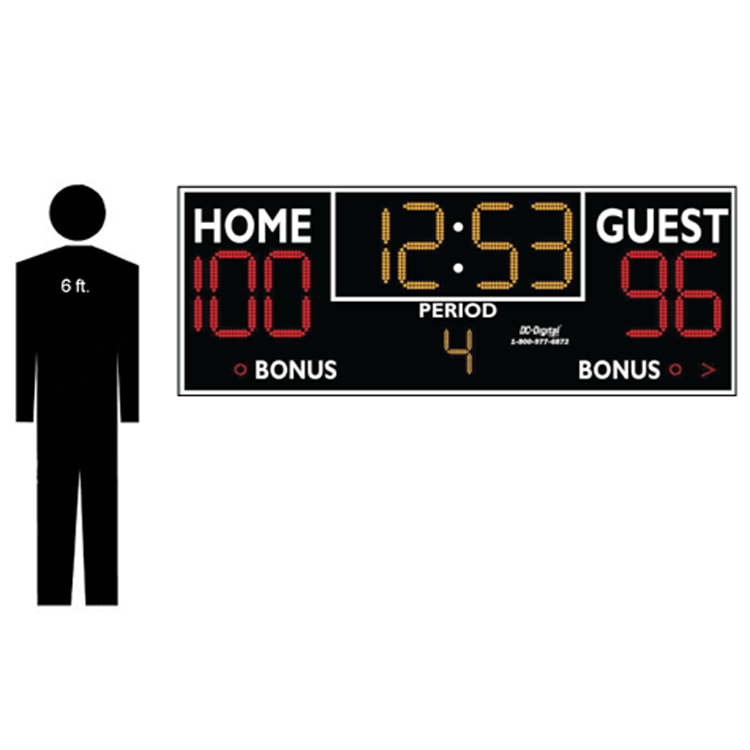 (DC-159-8x3) Basketball-Volleyball-Wrestling LED Wireless Controlled Scoreboard (INDOOR) 2
