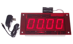 (DC-25-OEM-Clock) Display Sign Mountable Digital Clock, Push-Button Set, 2.3 Inch Digits (Everything you need to install into your signage)