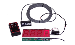 (DC-25-OEM-STATIC-W-KIT) Wireless Controlled Static Electronic LED Number Display Kit for Signage, 2.3 Inch Digits (Everything you need to install into your signage)