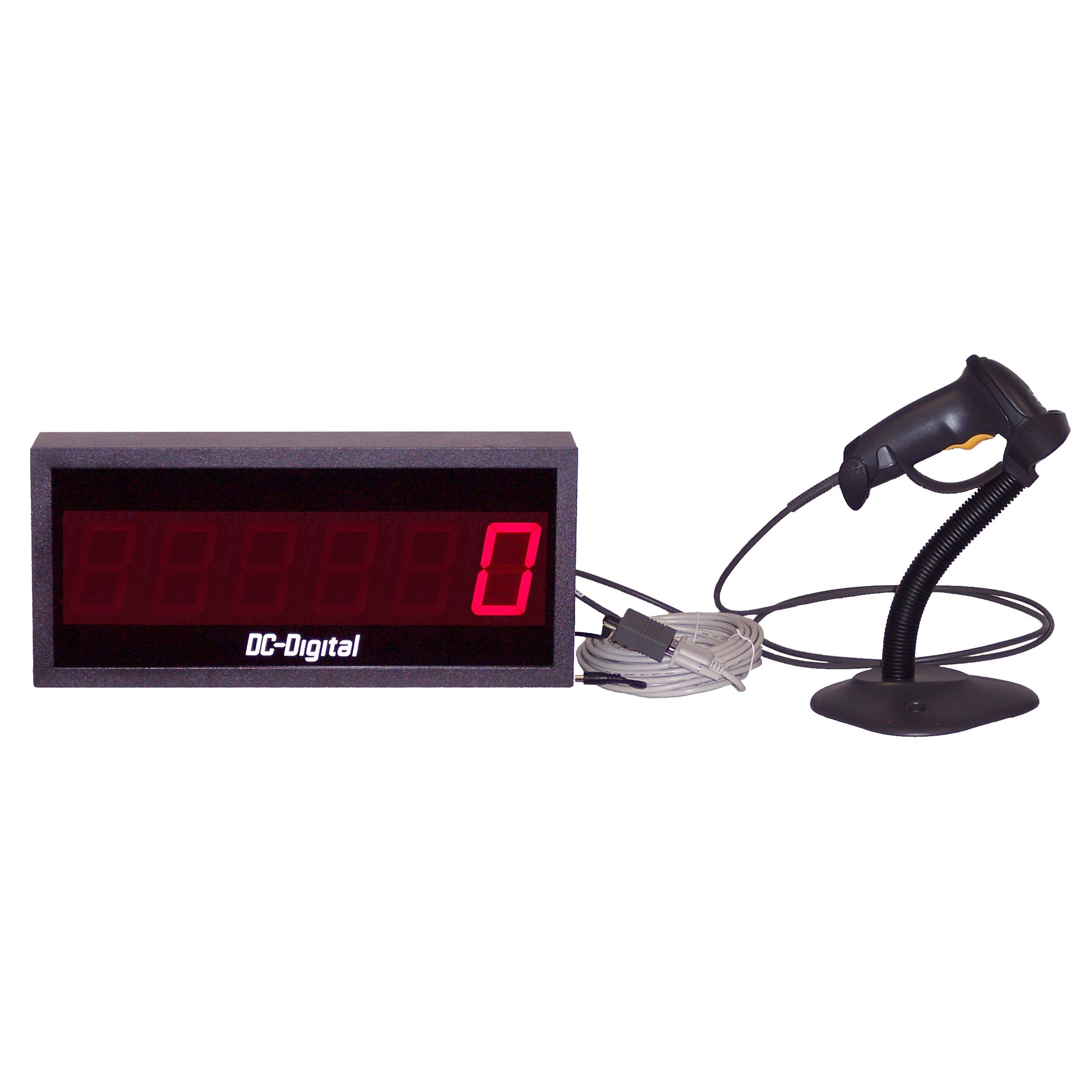 (DC-256-BCS-PKG) 2.3 Inch LED 6 Digit Number Display Bar Code Scanner Kit