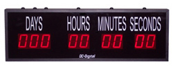 (DC-259T-DN) 2.3 Inch LED Digital, Push-Button Controlled, Countdown Timer, Days, Hours, Minutes, Seconds