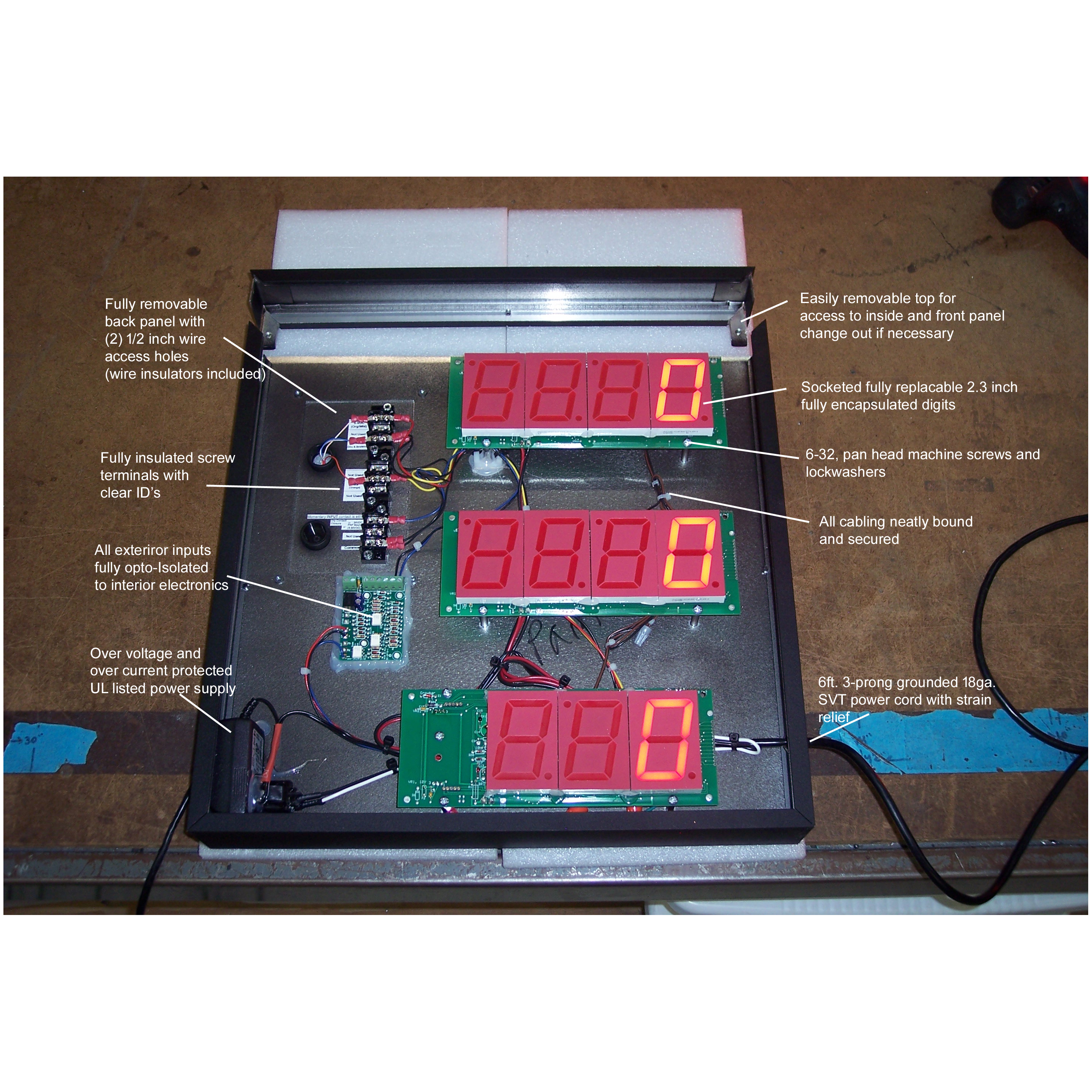 """(DC-25C-2-EFF-RP) 2.3 Inch LED Digital Production Efficiency Counter with Wired 40mm Palm Switch for """"Actual"""" Count and Wired Environmentally Sealed Push-Buttons for Setting the """"Planned"""" Count 1"""