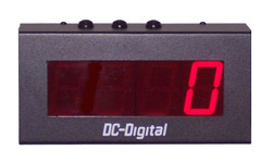(DC-25T-UP-DAYS) 2.3 Inch LED Digital, Environmentally Sealed Push-Button Controlled, Count Up by Days Timer