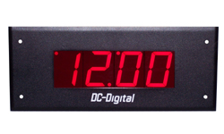 (DC-25F-GPS-12V) 2.3 Inch LED Digit, Flush Mount, GPS Receiver Synchronization, Atomic Time of Day Vehicle Clock, 12VDC
