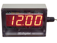 (DC-25N-POE-NEMA) 2.3 Inch LED, Network NTP Server Synchronized, Web Page Configurable, POE Powered, Atomic Digital Time of Day Clock in a NEMA 4X Enclosure