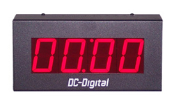 (DC-25N-T-DN-UP-Static) 2.3 Inch LED Digital, Network Connected, Web Page Controlled, Count Up timer, Countdown Timer, Time of Day Clock and Static Number Display