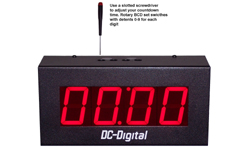 (DC-25T-DN-BCD) 2.3 Inch LED Digital, BCD Rotary Switch Set, Multi-Input (PLC-Relay-Switch-Sensor) Controlled, Countdown Timer-Clock