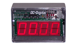 (DC-25T-DN-BCD-NEMA) 2.3 Inch LED Digital, BCD Rotary Set Switches, Multi-Input (PLC-Relay-Switch-Sensor) Controlled, Countdown Timer, NEMA 4X Enclosure