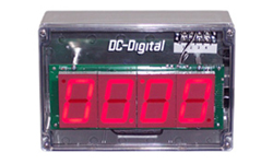 (DC-25T-UP-TERM) 2.3 Inch LED Digital, Multi-Input (PLC-Relay-Switch-Sensor) Controlled, Count Up Timer, Shift Digit Technology, NEMA Enclosed