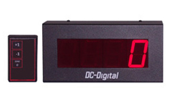 (DC-25T-UP-DAYS-W) 2.3 Inch LED Digit, RF-Wireless Remote Handheld Controlled, Count Up by Days Timer