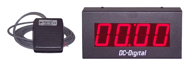 DC-25T-UP-Foot-Switch-Controlled-Digital-Count-UP-Timer-2.3-Inch-Digits-HP