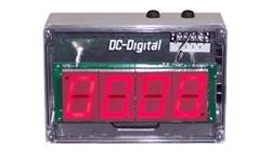 (DC-25T-UP-NEMA) 2.3 Inch LED Digital, Push-Button Controlled, Count Up Timer, Shift Digit Technology, NEMA Enclosed