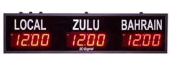 DC-25TZ-3-Digital-LED-Time-Zone-Clock-2.3-inch-Display
