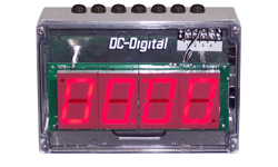 (DC-25UT-NEMA) 2.3 Inch LED Digital, Top Mounted Push-Button Controlled, Count Up timer, Countdown Timer, Time of Day Clock with NEMA 4X Enclosure