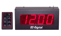 DC-25UTW-RF-Wireless-Controlled-Countdown-Count-Up-Timer-Clock-2.3-Inch-Digits