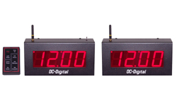 (DC-25UTW-SYSTEM-W) 2.3 Inch LED, Multi-Function Master-Secondary Wireless Controlled Synchronized Timer System