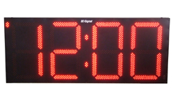 (DC-300S-W) 30.0 Inch LED, RF-Wireless Handheld Controlled, Wall Mount, Time of Day Digital Clock (OUTDOOR, Non-System)