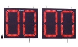 (DC-300P-S-120) 30 Inch LED Digital, Stationary Football Play Clock-Delay of Game Timers, 120 VAC Powered, RF-Wireless Controlled (Complete Set)