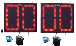 (DC-300P-S) 30 Inch LED Digital, Stationary Football Play Clock-Delay of Game Timers, Battery Operated, RF-Wireless Controlled (Complete Set)