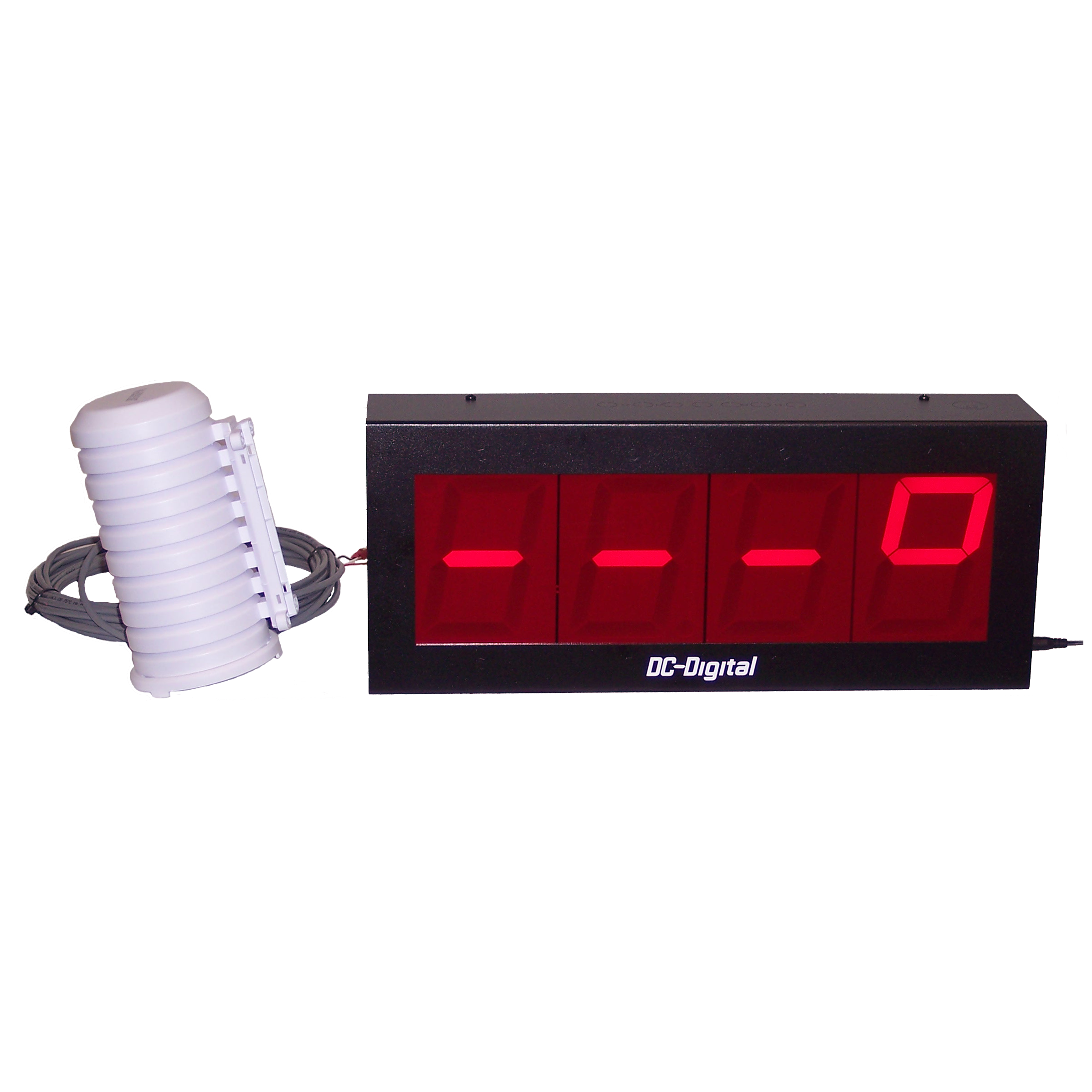 (DC-40-TEMP) 4.0 Inch LED Digital Temperature Display and Wired Probe (25ft. Wiring Harness)
