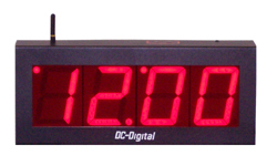 DC-40-W-Master-Push-Button-Set-Wireless-Output-Clock-4-Inch-Digits-PP