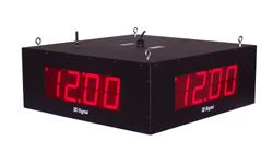 (DC-40-W-System-Quad) (4) 4.0 Inch LED Digital, RF-Wireless Synchronized System, Time of Day Clocks, All-In-One Enclosure (Store n Forward)