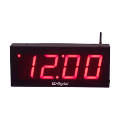 Wireless Digital Clock 4 Inch Digits