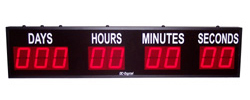 (DC-409T-DN) 4.0 Inch LED Digital, Push-Button Controlled, Countdown Timer, Days, Hours, Minutes, Seconds