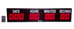 (DC-409T-DN-W) 4.0 Inch LED Digital, RF-Wireless Handheld Controlled, Countdown Timer, Days, Hours, Minutes, Seconds