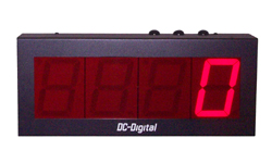 (DC-40C-Term-S) 4.0 Inch LED Digital, Multi-Input, Counter that has Top Mounted Environmentally Sealed Push-Button Switches and also Accepts PLC, Relay, Switch and Sensor Input Controls