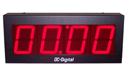 (DC-40N-T-DN-UP-Static) 4.0 Inch LED Digital, Network Connected, Web Page Controlled, Count Up timer, Countdown Timer, Time of Day Clock and Static Number Display
