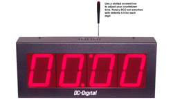 (DC-40T-DN-BCD) 4.0 Inch LED Digital, BCD Rotary Switch Set, Multi-Input (PLC-Relay-Switch-Sensor) Controlled, Countdown Timer-Clock